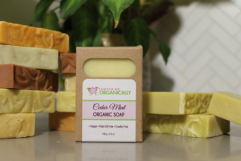 Organic Cedar Mint Body Bar