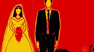 Bride and Groom image©Karen Watson Film & Animation from Topos Locos 'Madelina Valentina' music video