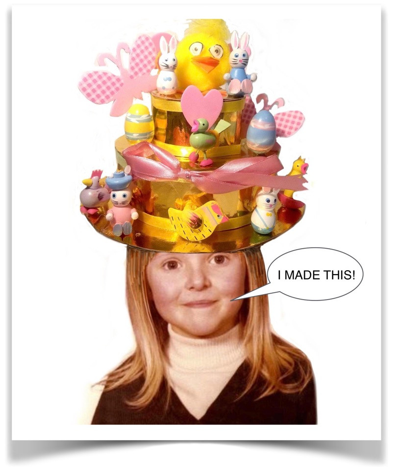 Easter Bonnet - Early Creative Masterpieces ©karenwatsonfilmandanimation / blog creative