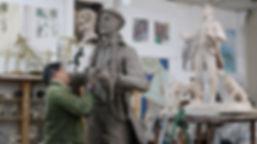 Art Capitano, Christopher Kelly Sculptor at work- image © Karen Watson Film & Animation