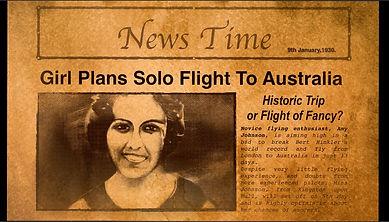 Amy Johnson (Female Pilot) News Flash from 'What Amy Did' ©Karen Watson