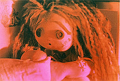 Rag doll character from the live-action / animation tale 'Sweet Heart by Karen Watson©NFTS, cinematography Lynne Ramsay