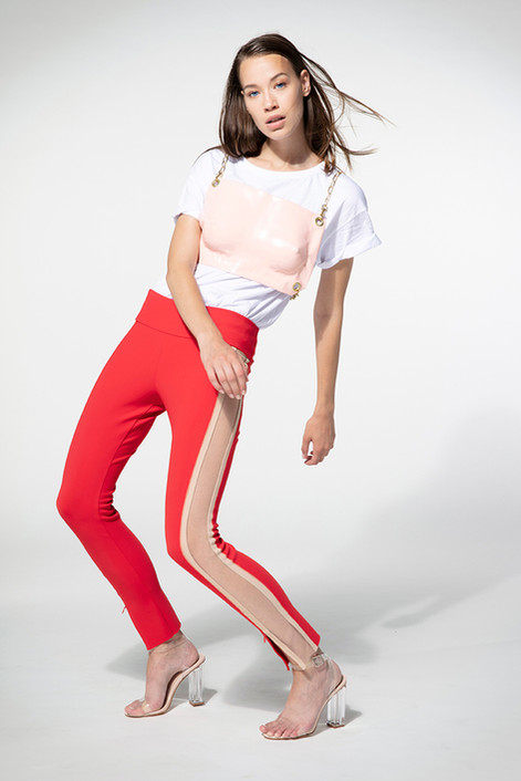 laser cut legging + modeld fabric