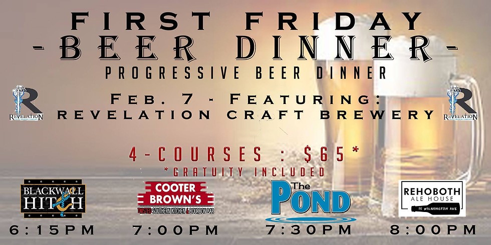 First Friday Beer Dinner
