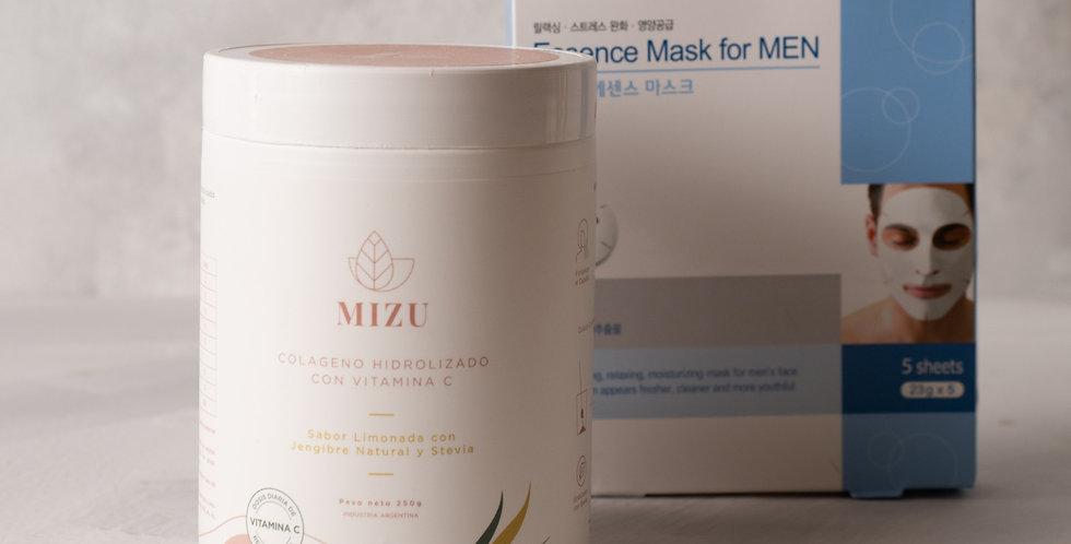 Colágeno hidrolizado + Essence Mask for Men Purederm de regalo