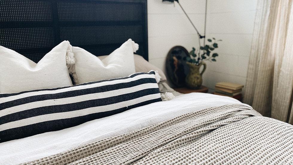 Moroccan Pom Pom Lumbar Pillow-