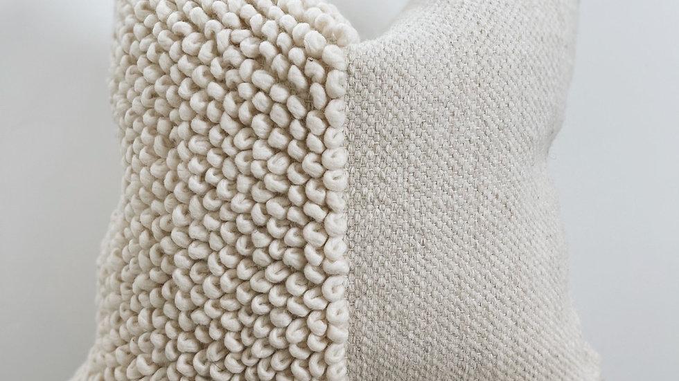 Woven half loop pillow