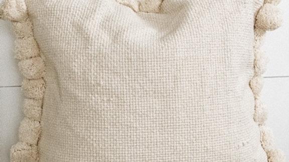 Woven Pom Pom pillow