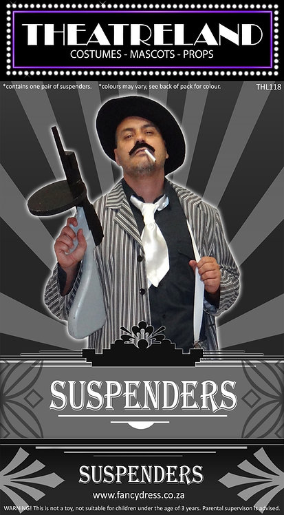 Gangster Suspenders White