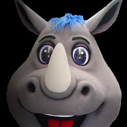 Happy Rhino Head