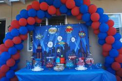 Superhero themed decor
