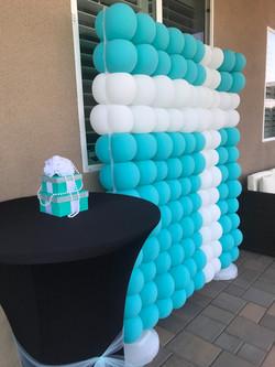 Tiffany Themed Balloon Wall