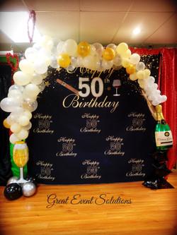 Champagne Balloon Garland