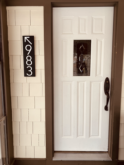 Address Sign with Arrow