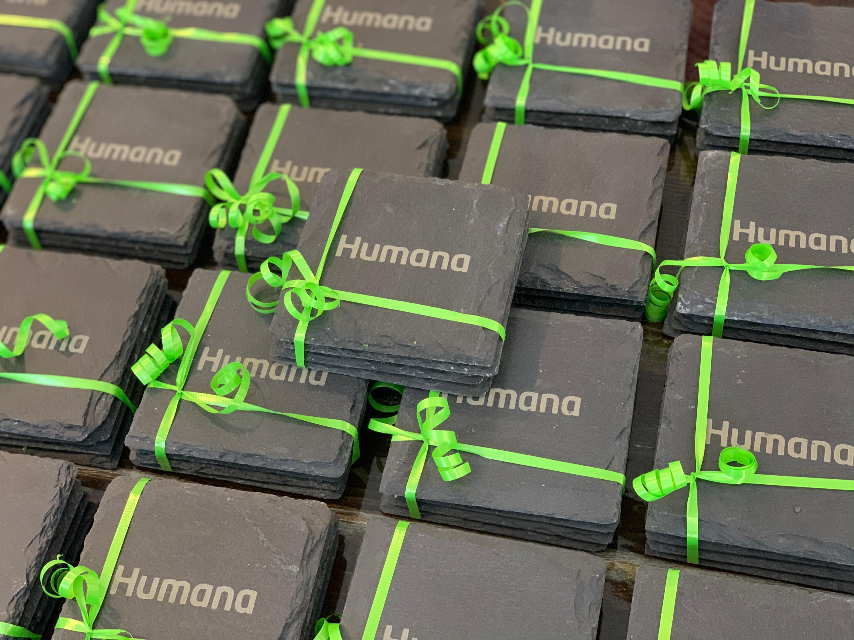 Humana Slate Coasters