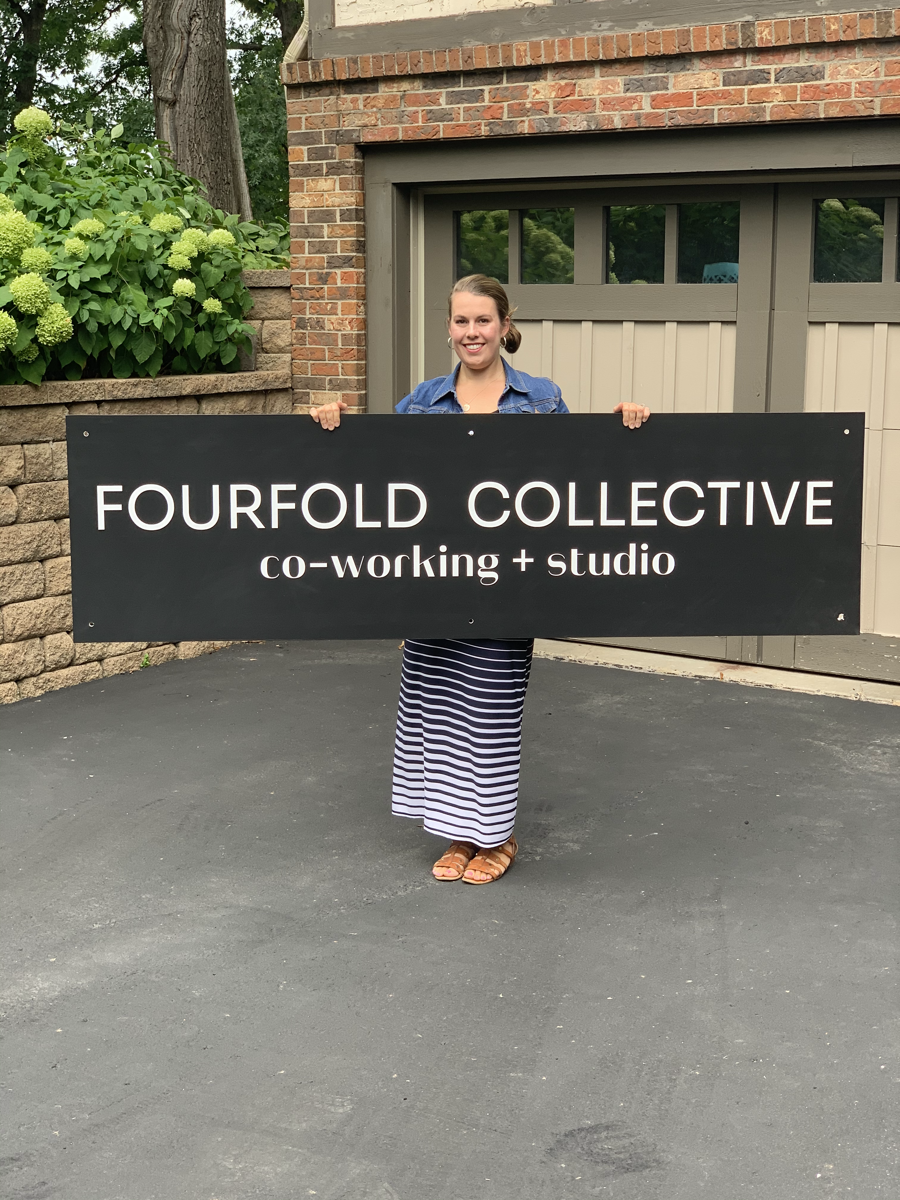 Fourfold Collective Building Sign