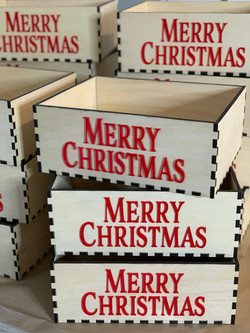 Merry Christmas Lettered Boxes