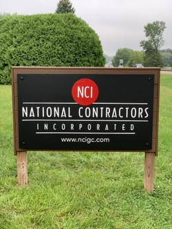 National Contractors Outdoor Building Sign