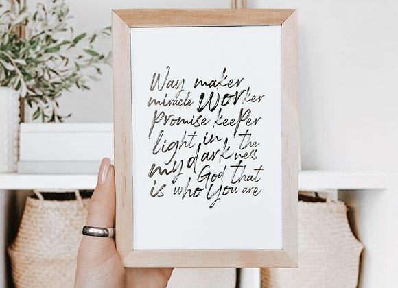Way Maker Wall Print