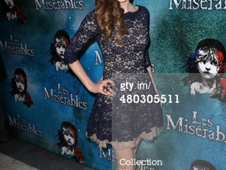 Samantha Hill at the Opening Night of Les Miserables Broadway