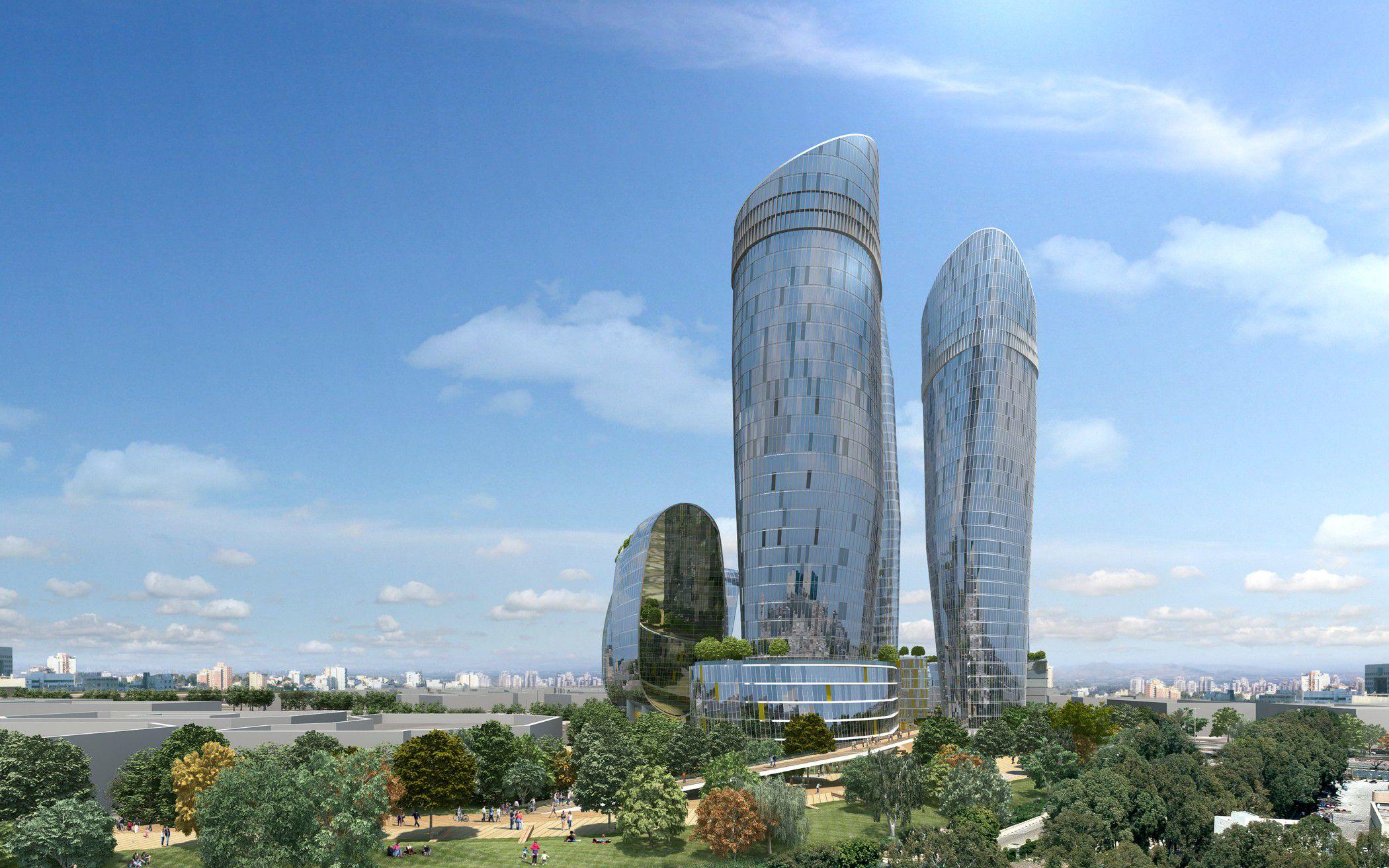 הדמיות אדריכליות מגדלי משרדים