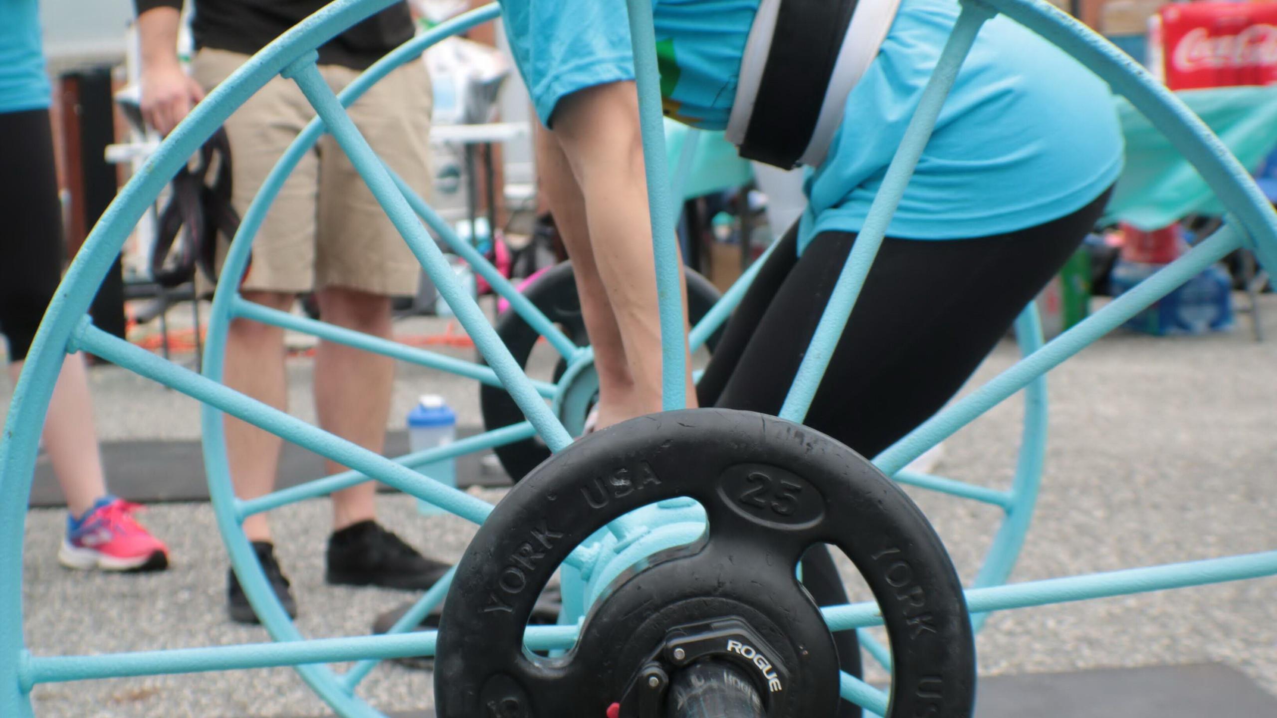 Jenna on Wagon Wheels