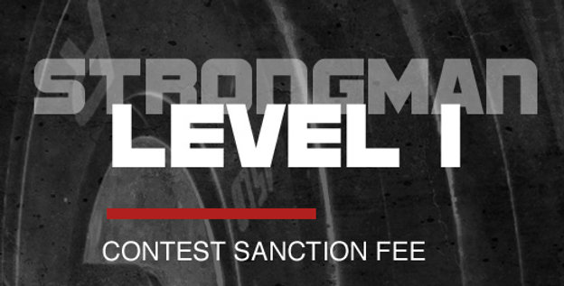 L1 Snc Fee - STRONGMAN Level 1 Contest Sanction Fee
