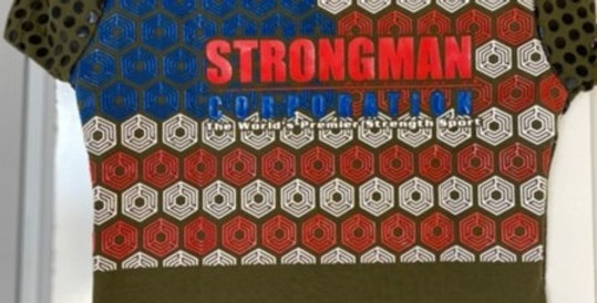 Men's Strongman Corporation Red/white/blue Grip shirt