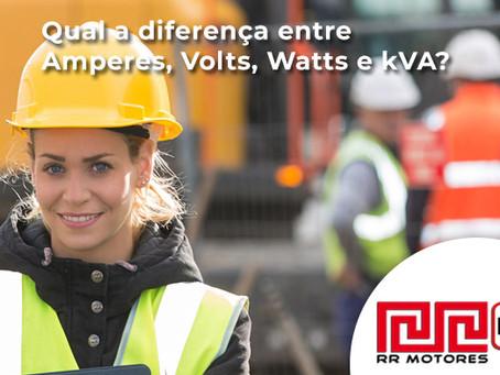 Qual a diferença entre Amperes, Volts, Watts e kVA?