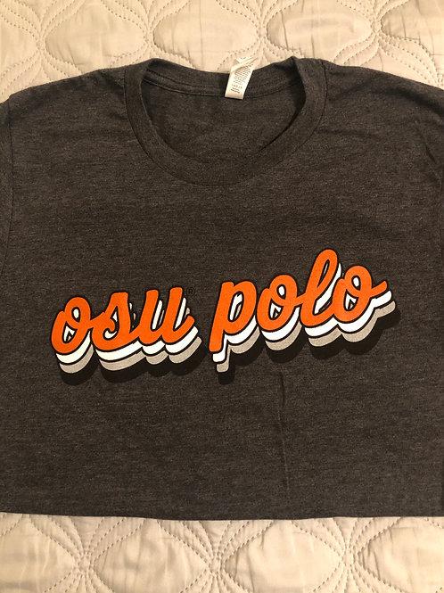 """Cursive """"OSU Polo"""" t-shirt"""
