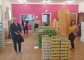 Amazing volunteer effort helps get Summer Foodpacks scheme underway