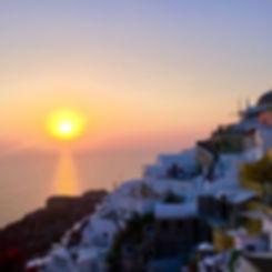 Breath-taking sunset in Oia, Santorini