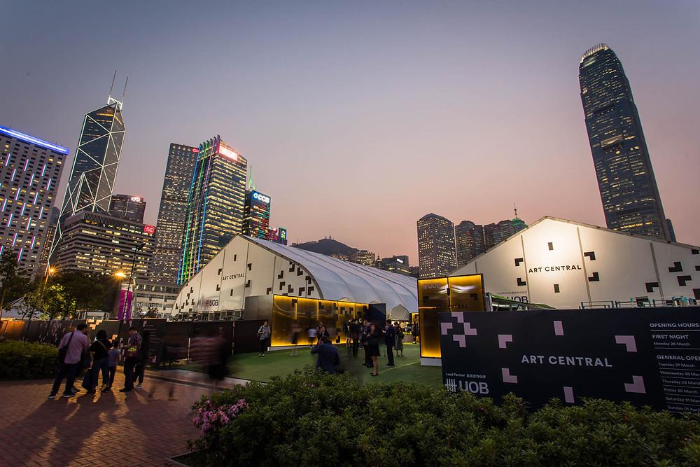 The Art Central Tent at Hong Kong Art Week
