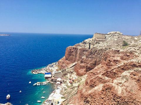 Amoudi Bay in Oia, Santorini