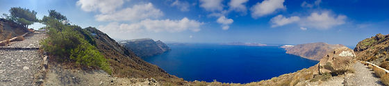 Caldera views on Fira-Oia hike