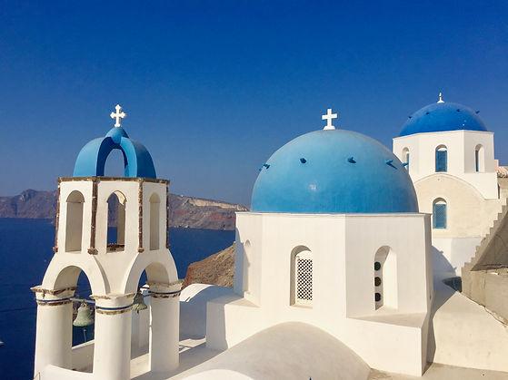 Blue dome churches in Oia,Santorini