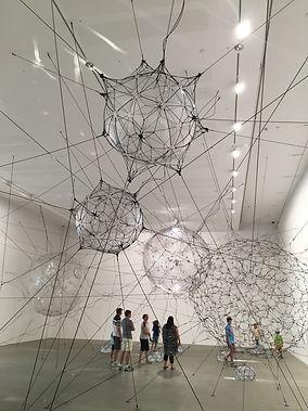 Tomás Saraceno contemporary art at QAGOMA