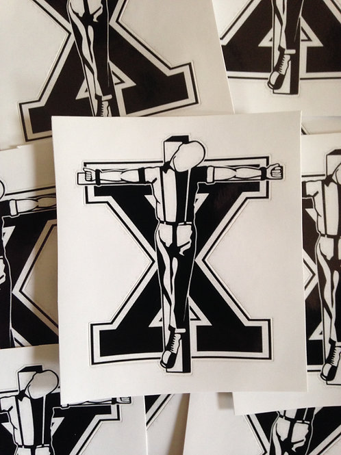 Crucified Straight Edge Skinhead