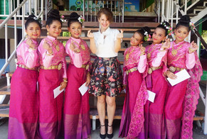 School and Traditional Thai Clothing