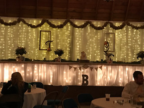 Head Table Lit Up