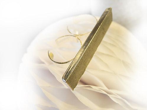 Zweifinger-Ring, Beton Silberfarben