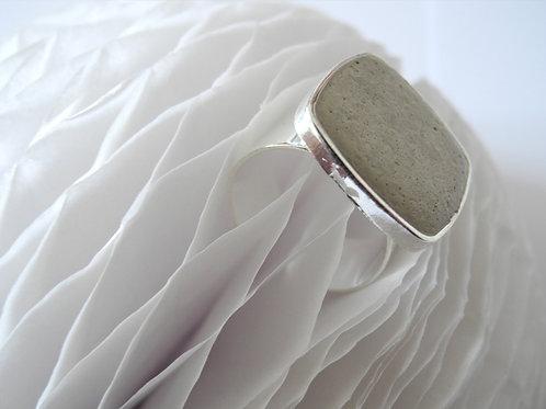 Ring, Beton Silberfarben