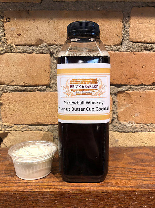 Skrewball Whiskey Peanut Butter Cup Cocktail - 16 oz