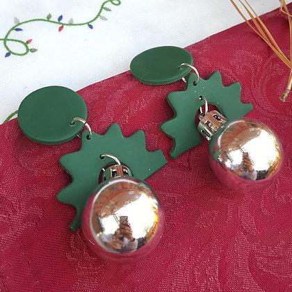 Shiny Christmas Earring