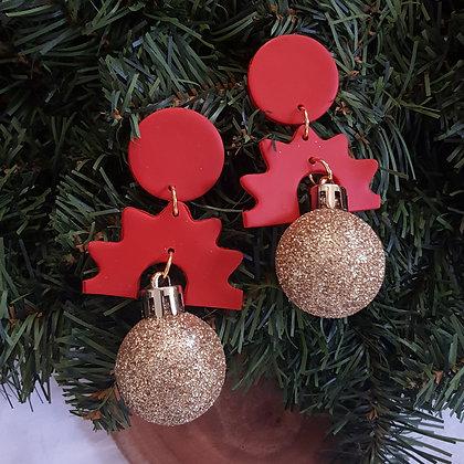 Glitter Christmas Earrings