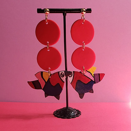 Mini Pajaro Earrings