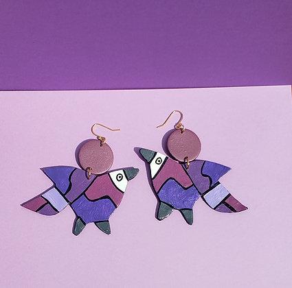 Monochrome Pajaro Earring