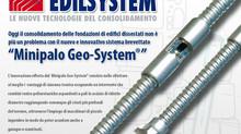 """Certificato di prova del brevetto """"Minopalo Geo- System®"""""""
