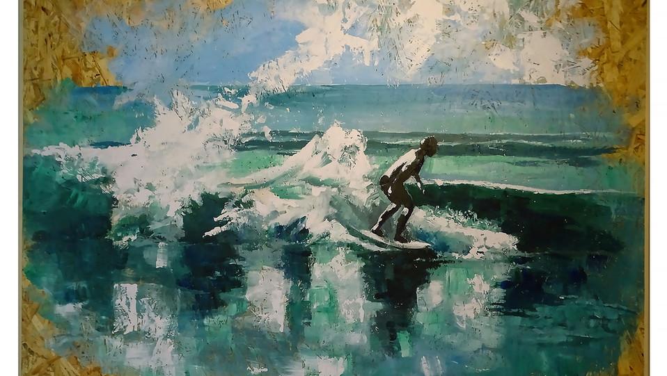 Surfing in Lagos Meia praia