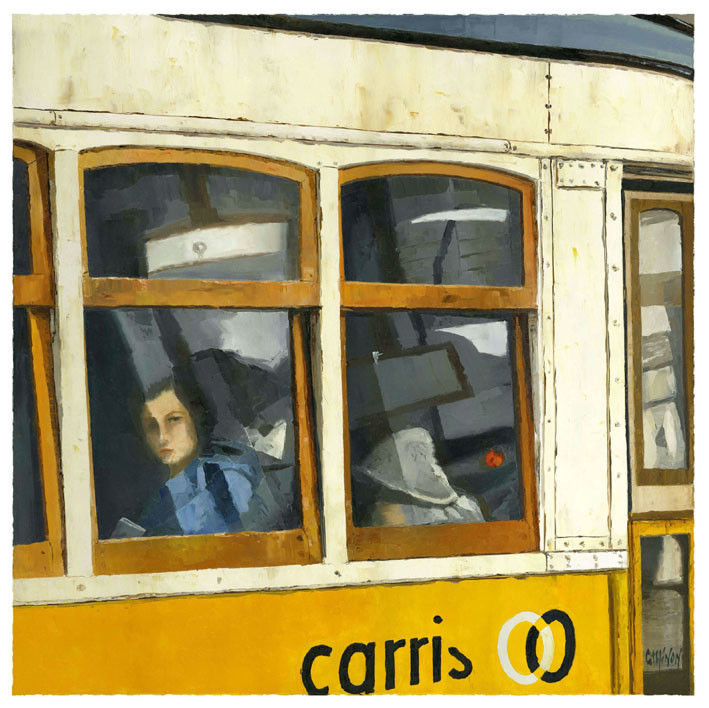 Looking at me by the window,Lisbon tram
